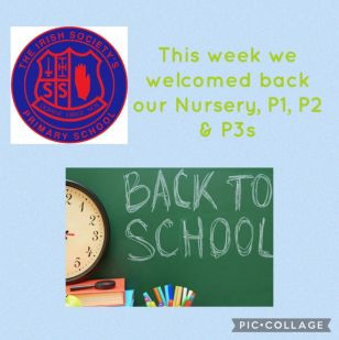 Back to school for Nursery to P3!
